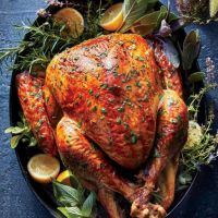 Christmas Turkey With Rice Chestnuts